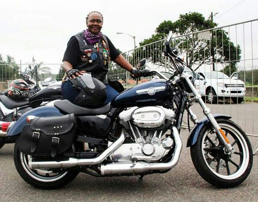 Women Who Ride: Lydia Batho-Batho Mahlangu with her Harley