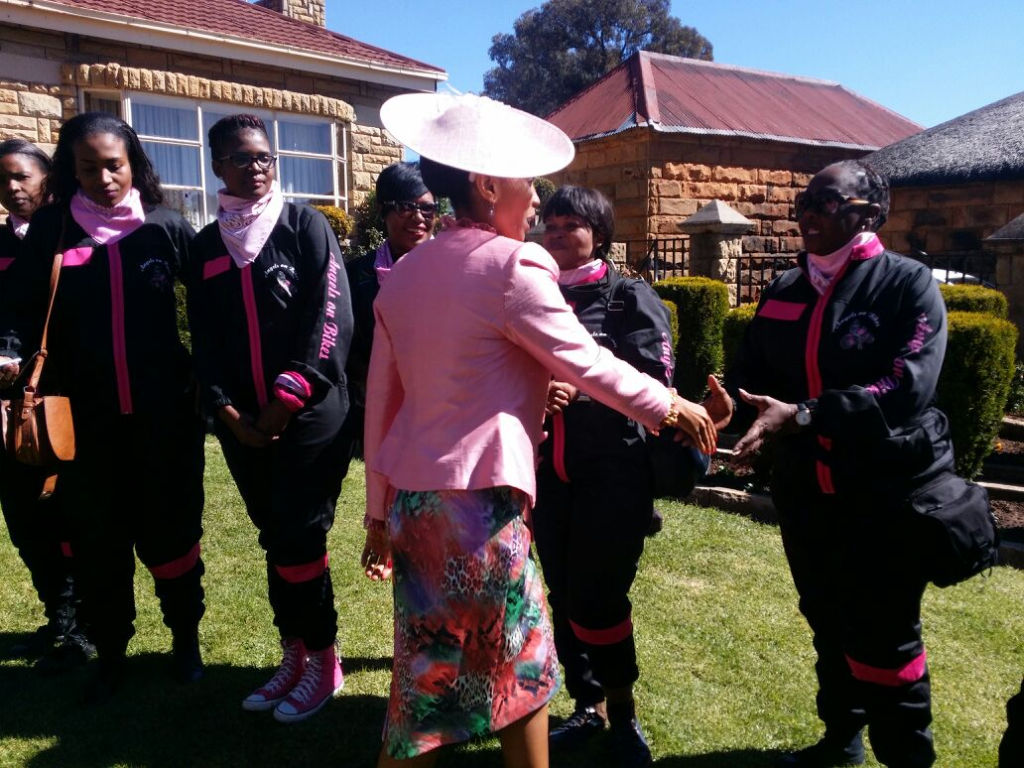 Meeting Her Royal Highness, the Queen of Lesotho, at the Royal Residence with Angels on Bikes