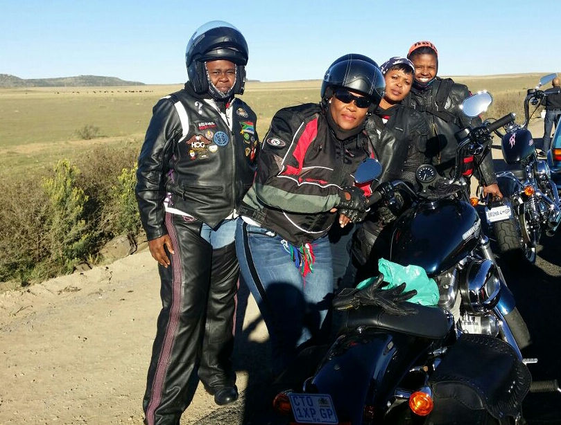 Women Who Ride: Stopped for a break on the way to Lesotho