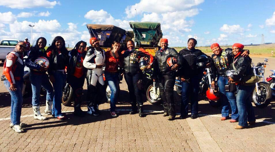 Women Who Ride: BathoBatho Maloma with her riding friends
