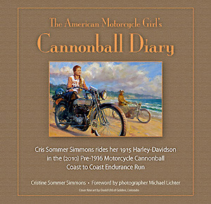 Books About Motorcycling: Cannonball Diary by Cristine Sommer Simmons