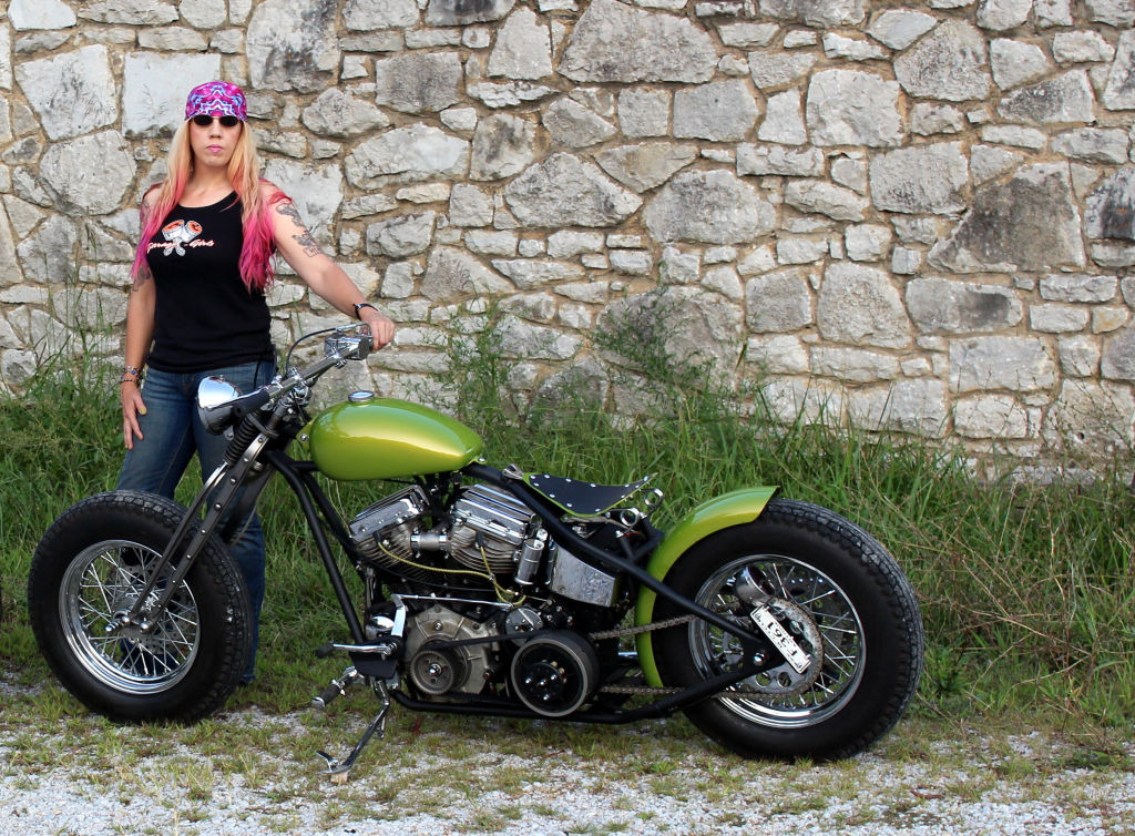 Women Who Ride: Chris Gibbany with her 1956 Harley Panhead