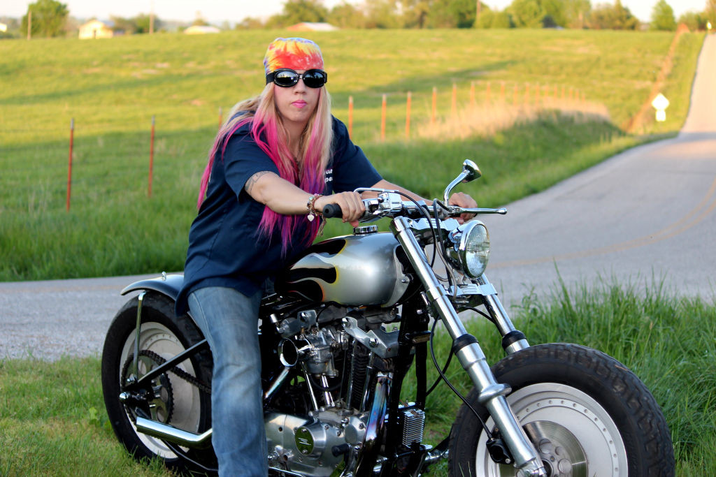 Women Who Ride: Chris Gibbany with her 1981 Harley Ironhead