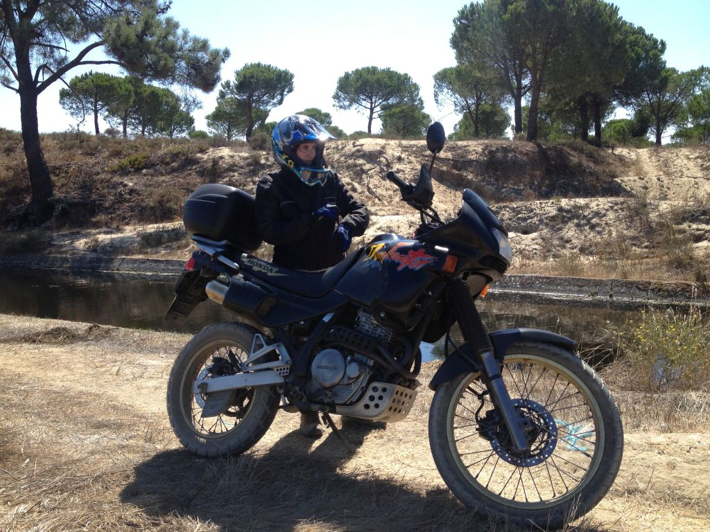 Women Who Ride: Fatima Ropero with her Honda NX 600 Dominator