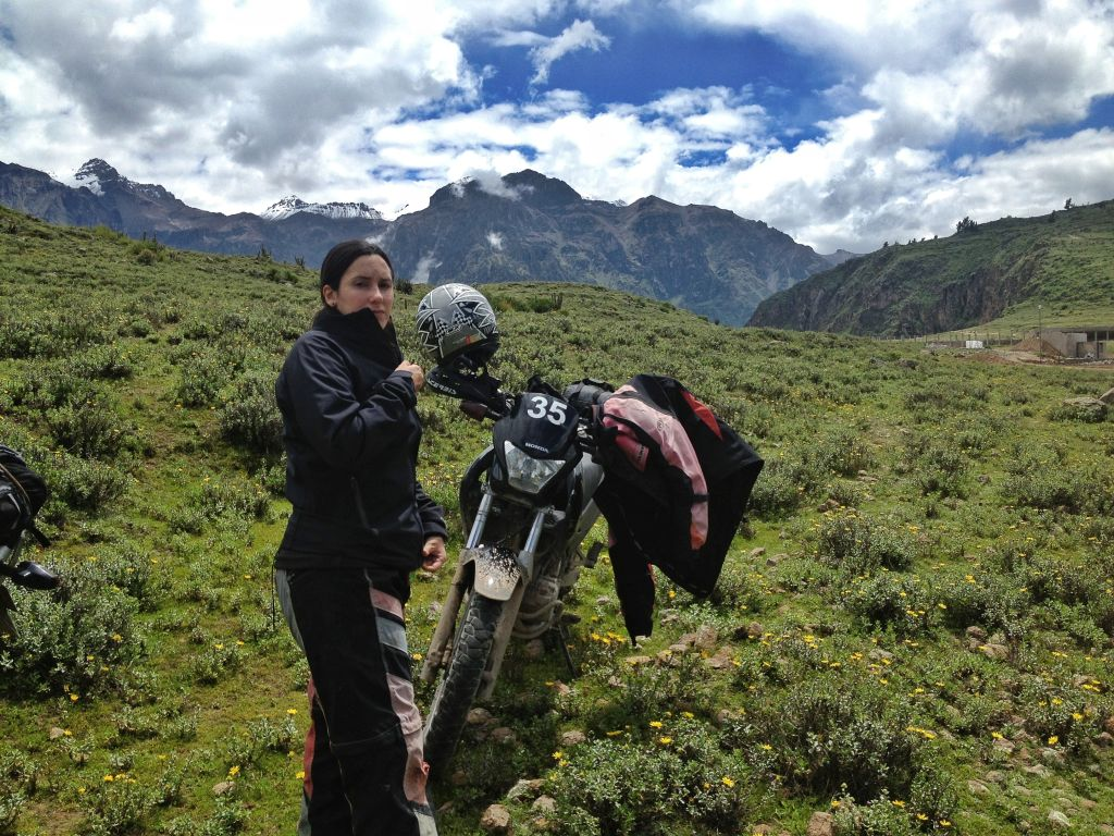 Women Who Ride: Fatima Ropero stopped for a rest in Peru