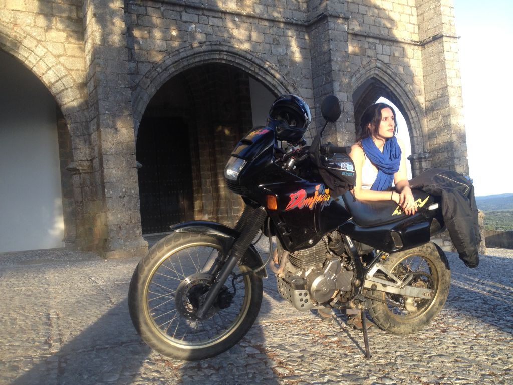 Women Who Ride: Fatima Ropero stopped in Aracena, Spain