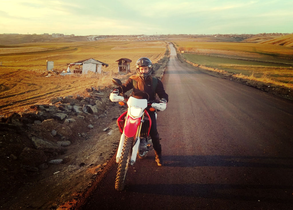 Women Who Ride: Gizem Özcan on her Honda CRF250L