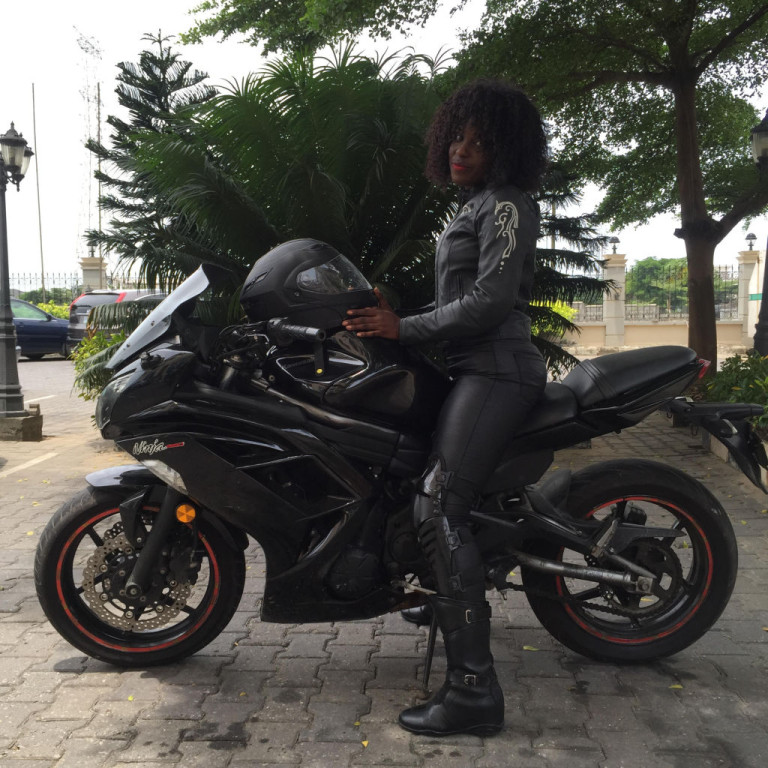 Women Who Ride: Motorcyclist Jane Michael Ekanem all kitted out to ride