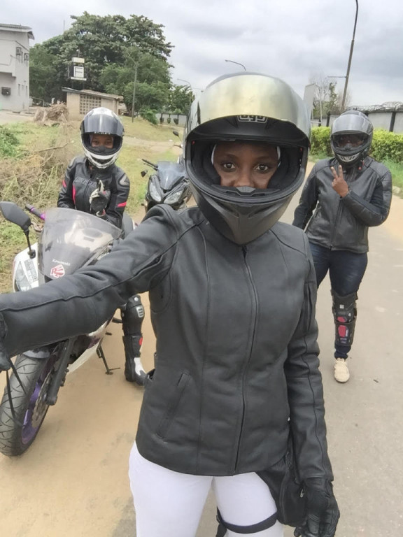 Women Who Ride: Jane Michael Ekanem with her riding group