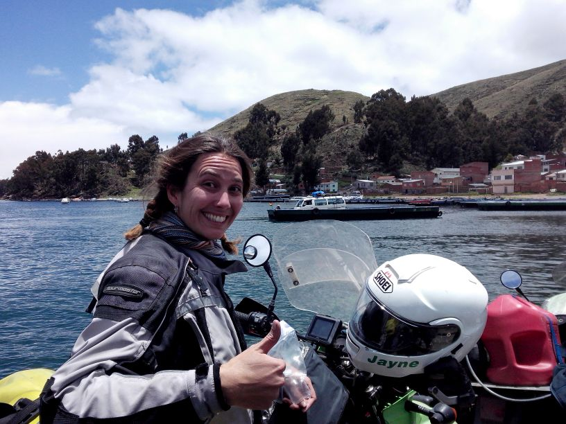 Women Who Ride: Jayne Davidson somewhere in South America