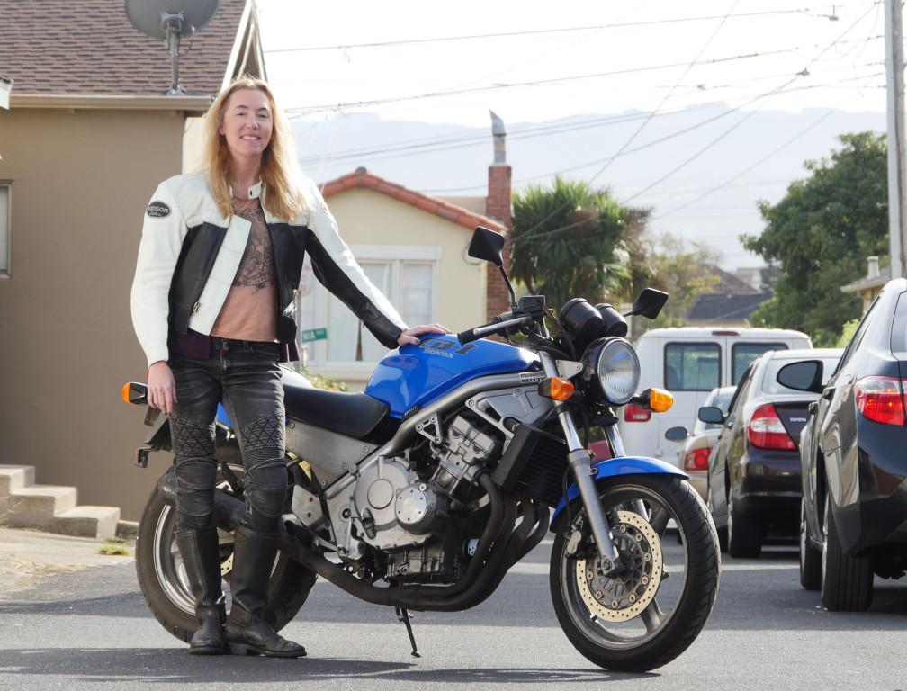 Women Who Ride: Motorcyclist Jenn Keys with her Honda CB-1