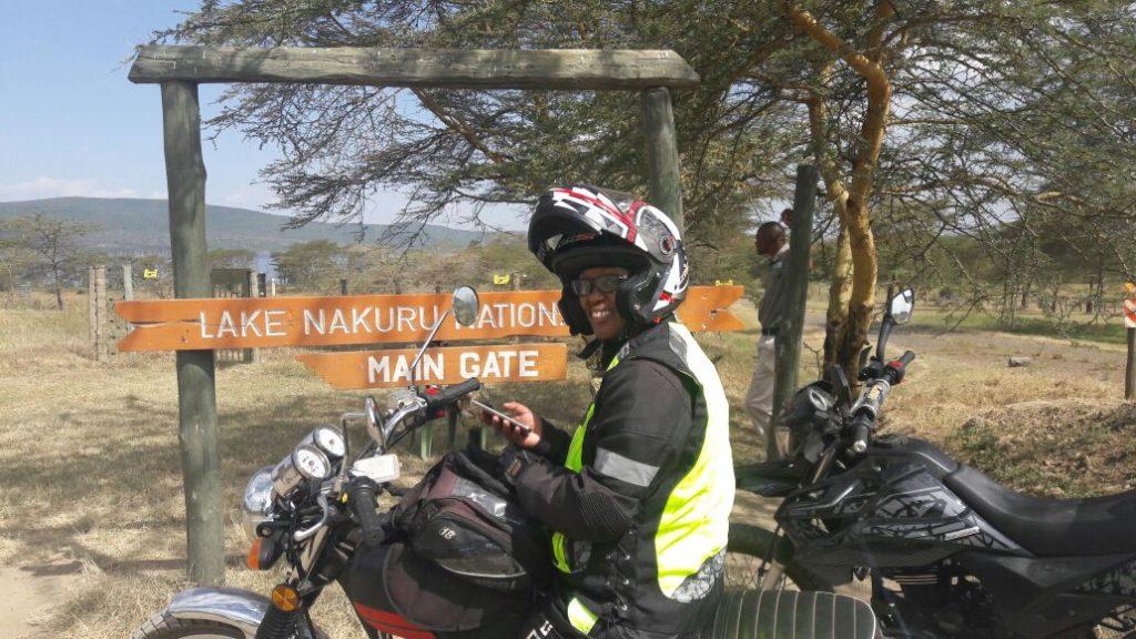 Wamuyu Ndarathi at Lake Nakuru
