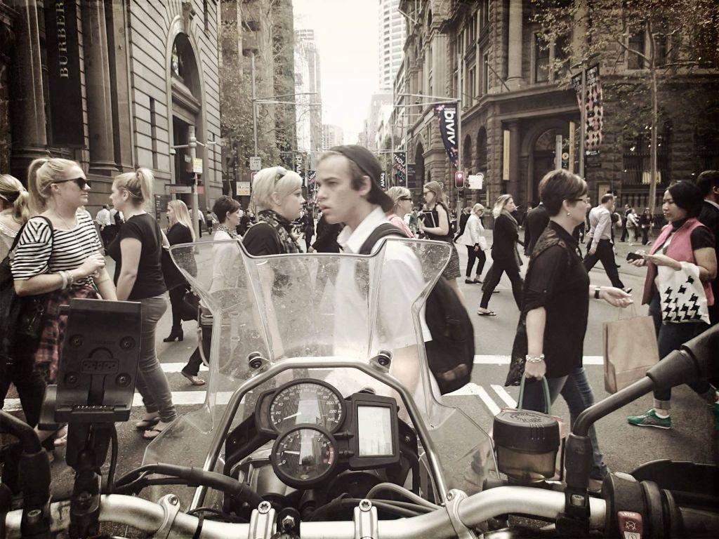 Kinga_australia 8 riding in the traffic