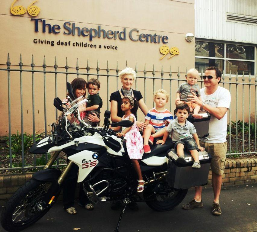 Kinga_charity ride around Aus for Shepherd Centre