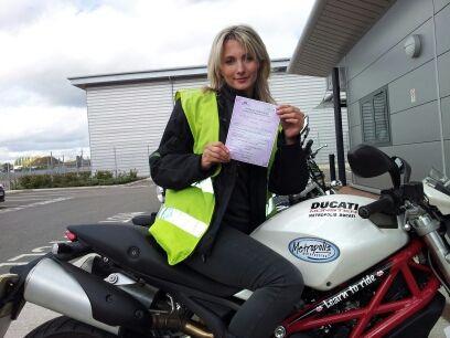 Women Who Ride: Maria Dalla Colla passes her Mod1 test