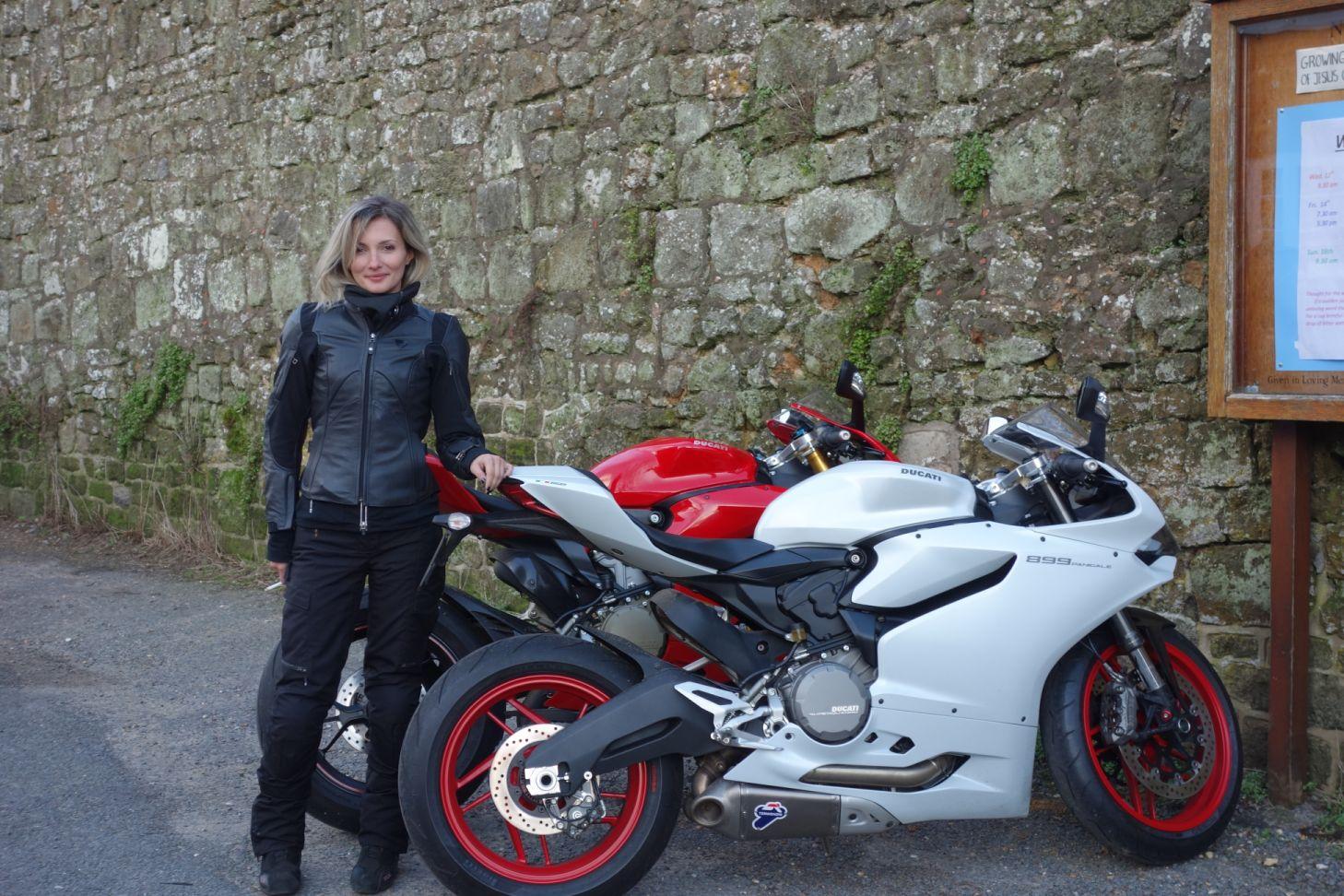 Women Who Ride: Italian rider Maria Dalla Colla with her Ducatis