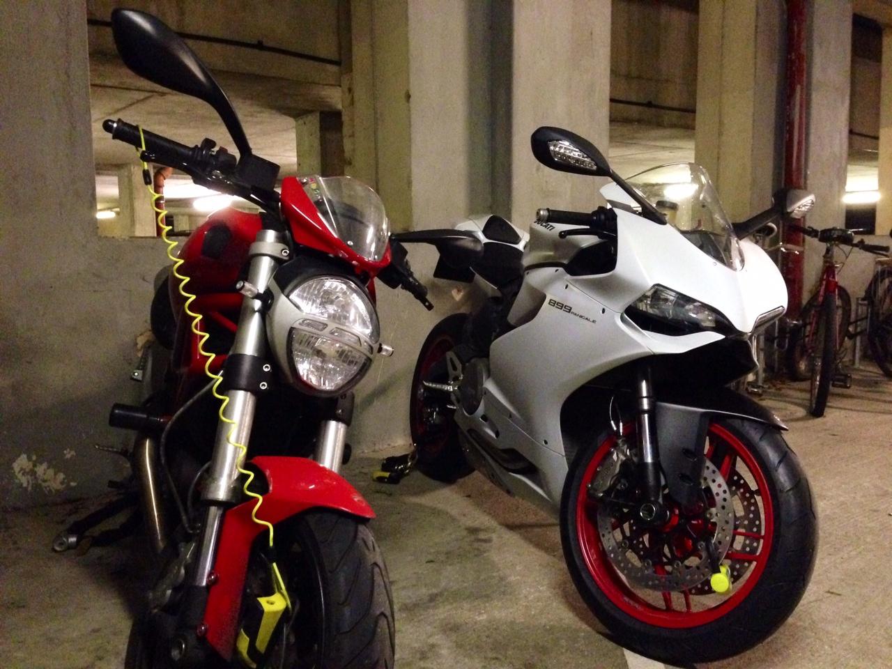 Ducatis locked up