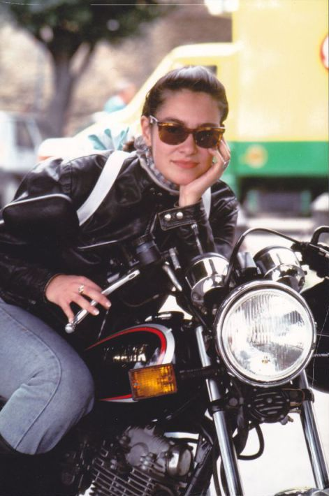 Women Who Ride: Italian motorcyclist Marina Cianferoni in 1992, during her first trip alone through Tuscany