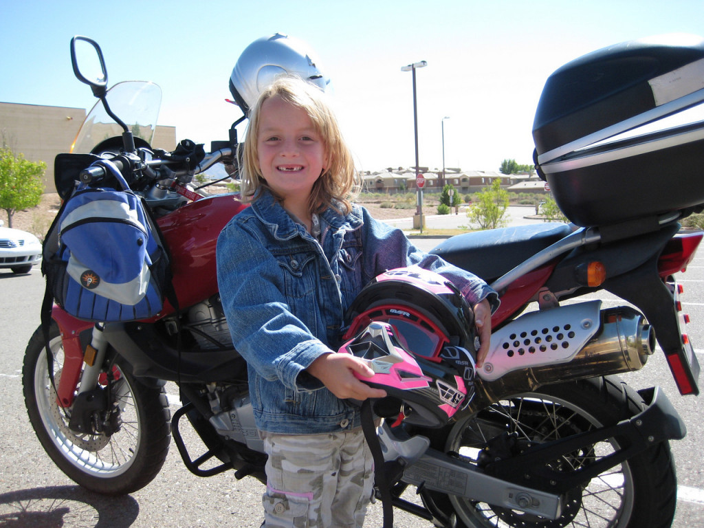 Women Who Ride: Nyla Roberts heading to Girl Scouts on her mom's motorcycle