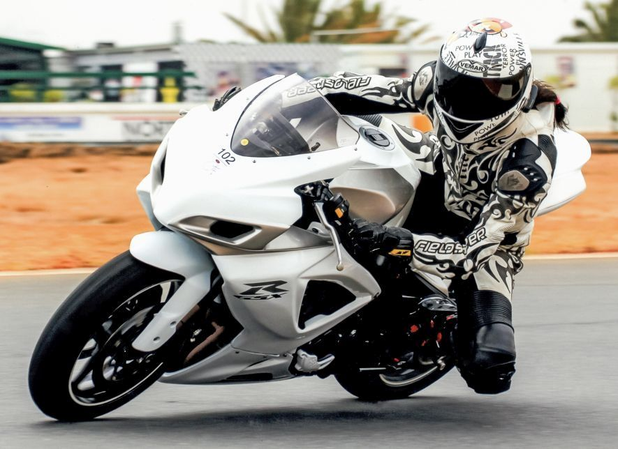 Women Who Ride: Skinny Van Schalwyck practicing at RedStar raceway for a 24 hour endurance race