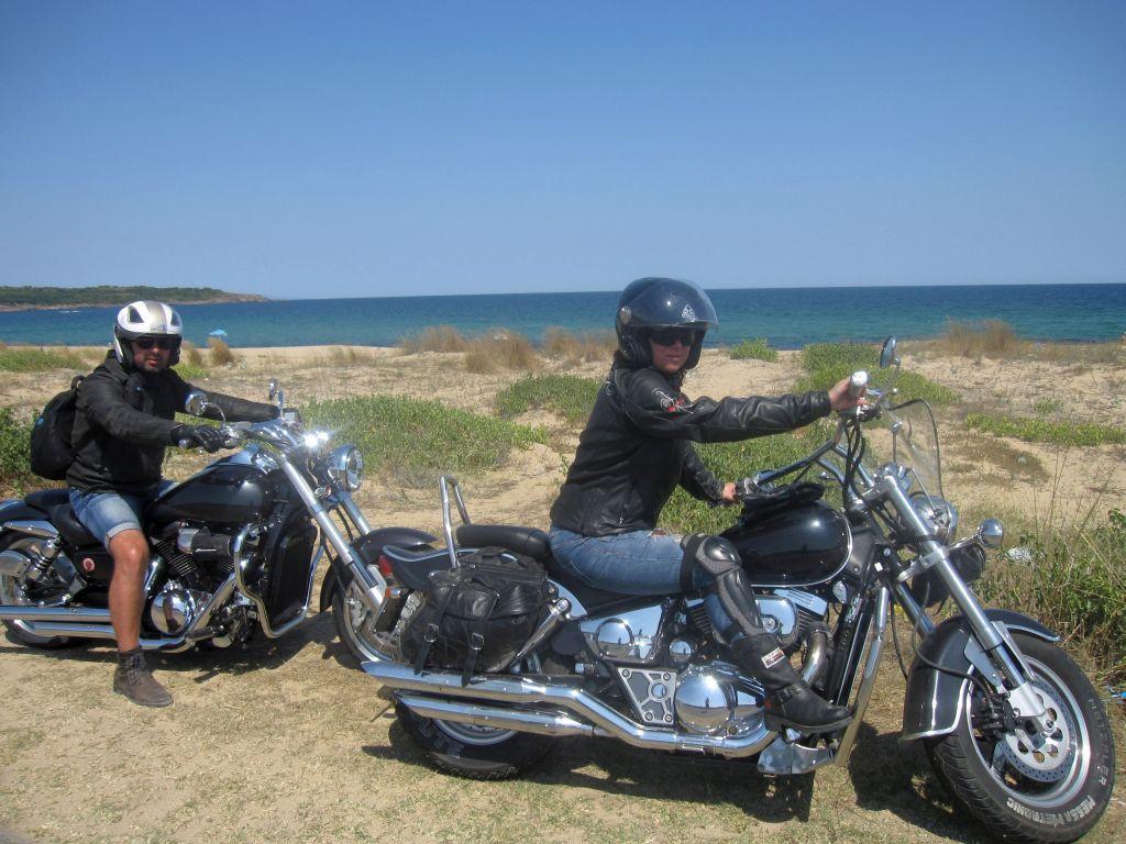 Violeta on the Black Sea Coast with her first bike