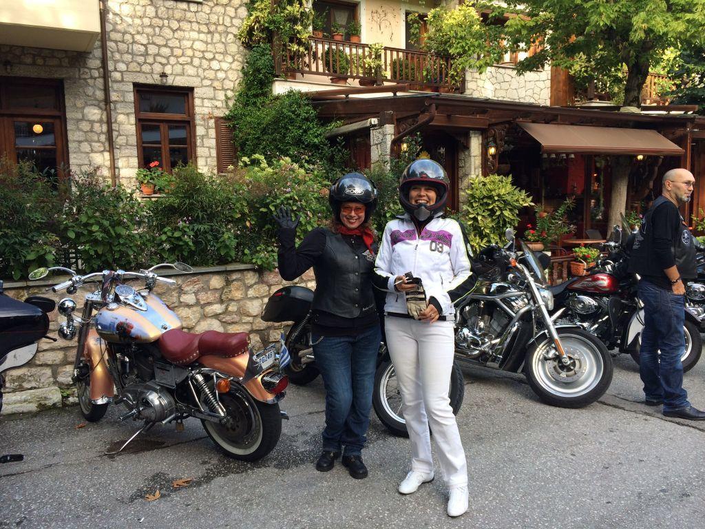 Violeta_With biker friends in Greece