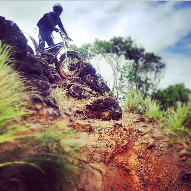 Some of the gnarly terrain our bikes go down